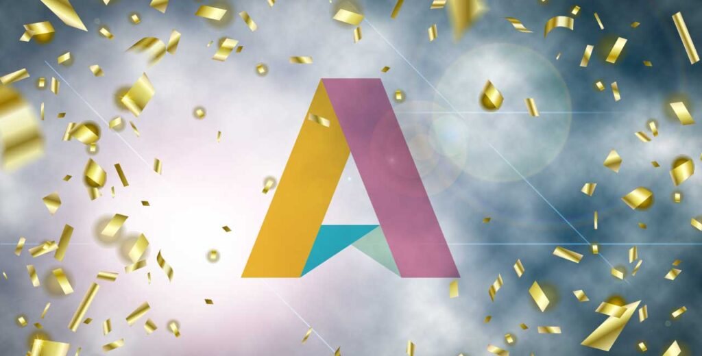 AllAgeHub-logo i konfetti