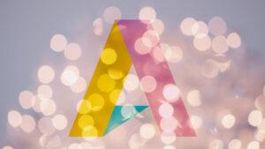 AllAgeHub logon mot glittrande bakgrund